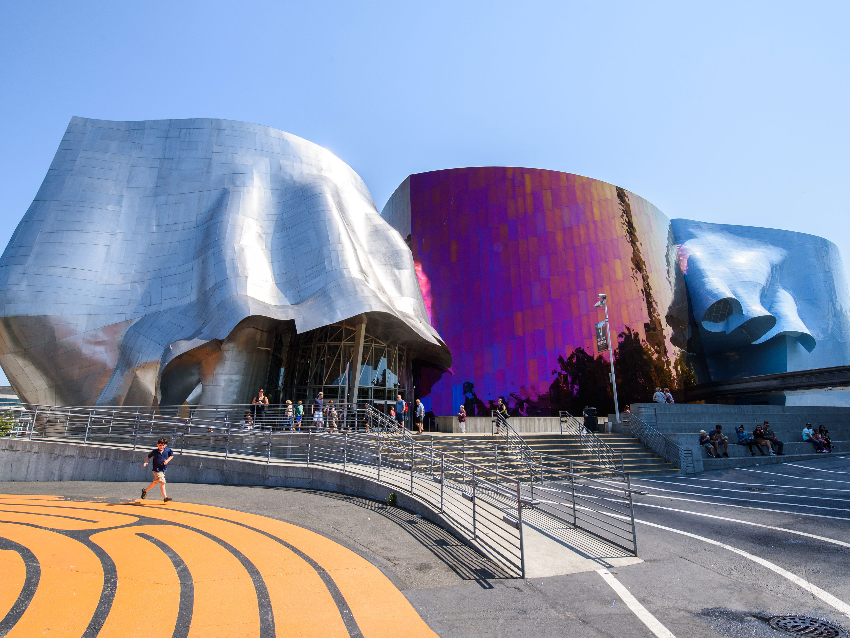 Exterior shot of Museum of Pop Culture, or MoPOP