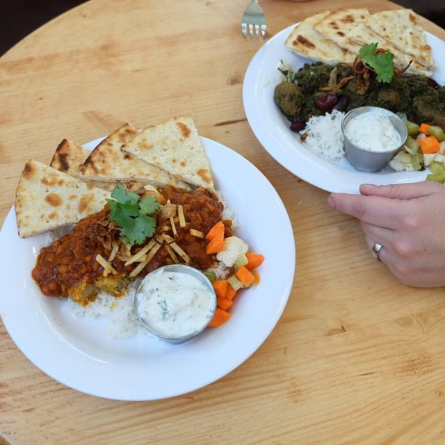 Persian food at Cherry Street Coffee