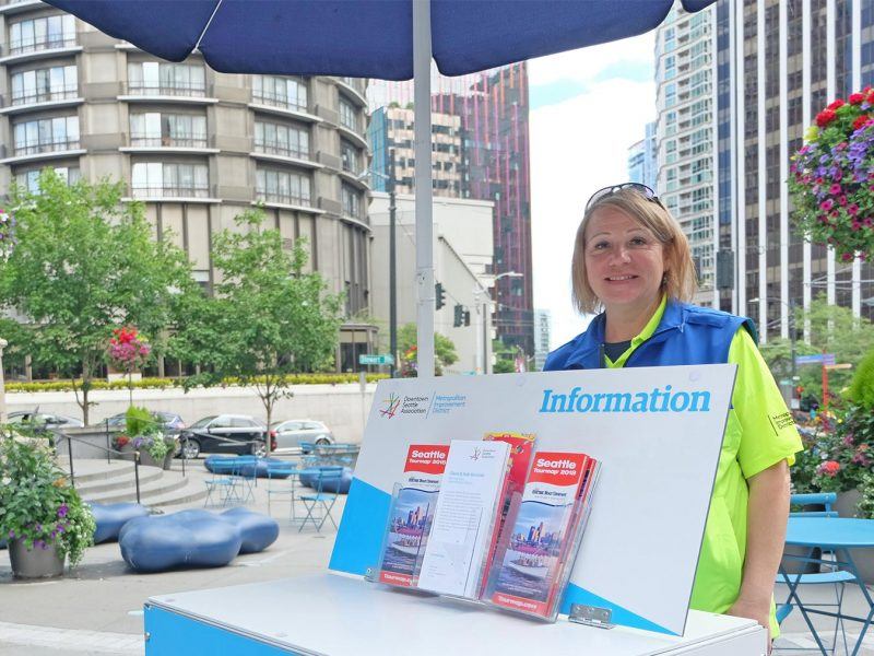 MID Safety Ambassador at McGraw Square - Information Booth