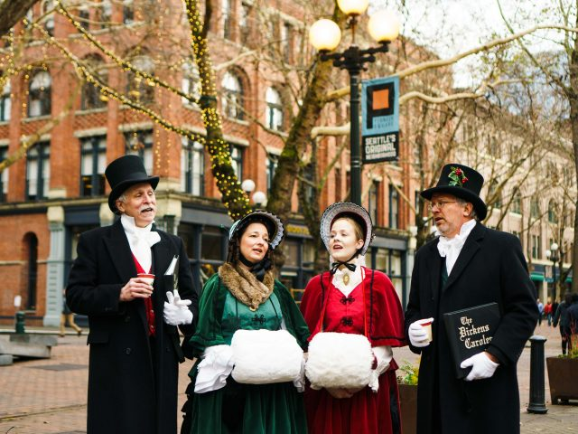 Carolers in Pioneer Square