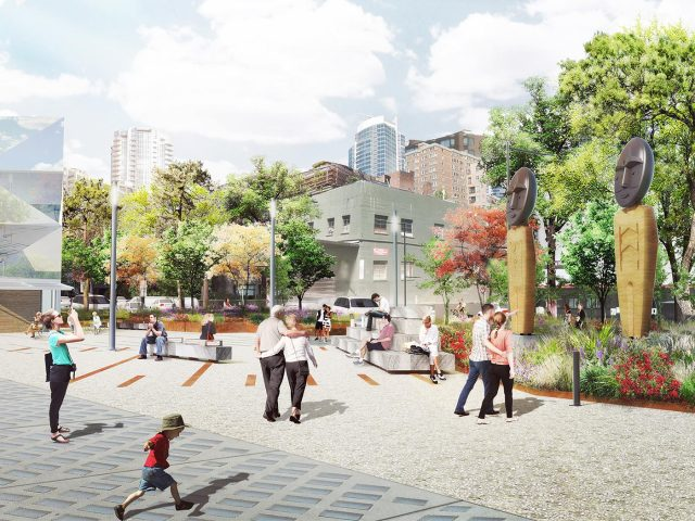 Waterfront rendering. Credit: City of Seattle and James Corner Field Operations